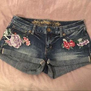 Express floral Jean shorts